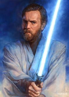 Jedi: Obi-Wan by katzai. #StarWars #Art #gosstudio .★ We recommend Gift Shop: http://www.zazzle.com/vintagestylestudio ★