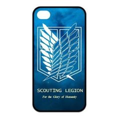 Iphone 4/4s Rubber Case The Hot Japanese Anime Attack on Titan Wings Of Liberty Flag
