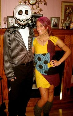 Jack and Sally! I made this dress by hand and will never do it again... But it was worth it <3