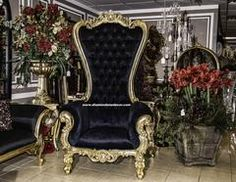 """""""Absolom"""" Baroque Style Rococo Louis XV Glamorous French Reproduction Throne Wedding Chair"""