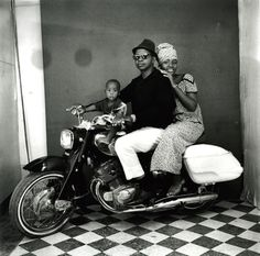 lens culture: Malick Sidibé Malick Sidibé, The whole family on a motorcycle, 1962