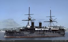 THis is the Imperial Russian battleship Imperator Nikolai I. She was captured by the Japanese at the Battle of Tsushima in 1905. She was either scrappe, or sunk as a target by the Battlecruisers Hiei and Kongo.