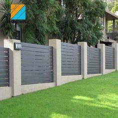 Slatted Fence Panels, Fence Slats, Low Fence, Fences, Fence Wall Design, Modern Fence Design, House Gate Design, Garden Swimming Pool, Swimming Pools