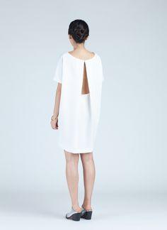 White Angle Mini Dolman Open Back Dress
