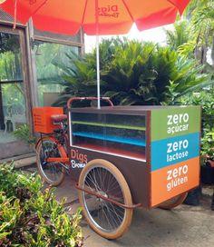 Pronta para pedalartrabalhar olebikes triciclo foodbike cargobike tricycle