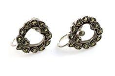 Edwardian Silver Marcasite Earrings