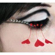 queen of hearts eye makeup - Google Search