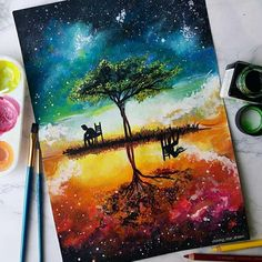 art pintura Believe in love. Plenty of Color in Paintings and Drawings. Click the image, for more art from Astchiek Melkonian. Art Drawings Beautiful, Colorful Drawings, Beautiful Artwork, Arte Obscura, Pics Art, Wow Art, Diy Canvas Art, Pastel Art, Acrylic Art