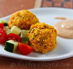 Sweet Potato Falafel with Yogurt-Tahini Sauce