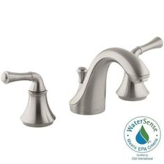 KOHLER Forte 8 in. Widespread 2-Handle Low-Arc Water-Saving Bathroom Faucet in Vibrant Brushed Nickel - K-10272-4A-BN - The Home Depot $225