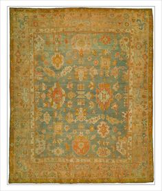Turkish Oushak rug, Oushak rug, Turkish rug, Turkish Oushak rug, antique textiles,