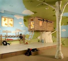 Clearly my future child needs a tree and treehouse with ladder in their room.