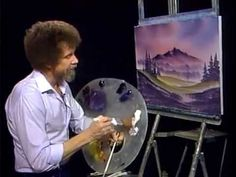 Bob Ross Northern Lights - The Joy of Painting (Season 8 Episode ★ Painting Videos, Painting Lessons, Painting Techniques, Painting & Drawing, The Joy Of Painting, Pinturas Bob Ross, Bob Ross Art, Mystic Mountain, Bob Ross Paintings