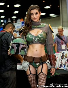 Unknown cosplayer as sexy Boba Fett (rule 63), photo by Andreas Schneider