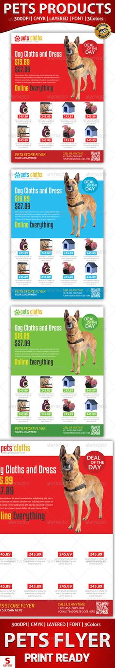 Pets Store Products Flyer  #GraphicRiver         Pets Store Products Flyer  	 Images links are included in the help file  	 Many thanks for purchasing my item from the envato marketplace.  	 Please don't forgot to rate.  	 //————————-—//  	 All designs in to design  	 //————————-—//  	 Pets Store Products Flyer Fully layered PSD 300 Dpi, CMYK Completely editable, print ready Text/Font or Color can be altered as needed All Image are in vector format, so can customise easily Photos are not…