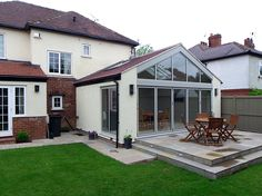 Pitchford architects provided architectural services for a glazed house extension in Wetherby. Living Room Extension Ideas, House Extension Plans, House Extension Design, Extension Designs, Rear Extension, House Design, 1930s Semi Detached House, Bungalow Renovation, Bungalow Ideas