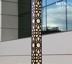 Details of our 'Seljuk Star' Aluminum LED Outdoor Lighting -- 'Selçuklu Yıldızı' LED Uzun Dış Mekan Aydınlatma Armatürü detayları.