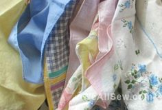 Pretty Upcycled Vintage Hankie Scarf Pattern Give-Away