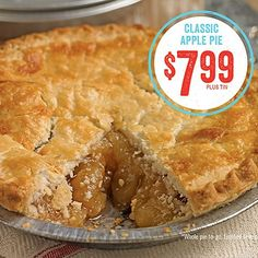 Celebrating an American Classic for only $7.99 all summer long! #applePie #pie #mariecallenders