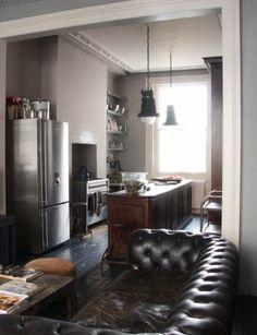 sofa in a kitchen