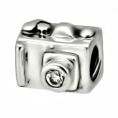Beads Photograhy Camera Plain Charm 925