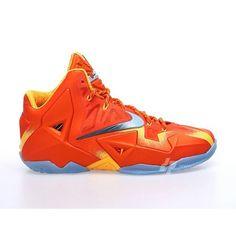 nike lebron xi preheat orange 1 NIKE LeBron XI PreHeat First Look