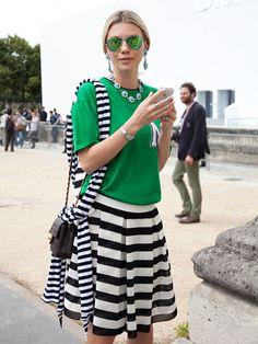 Fall 2013 Couture Week Street Style: Zhanna, wearing SMA and Miu Miu jewelry