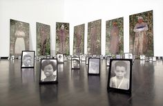Maria Magdalena Campos-Pons, The Seven Powers, Type C and silver gelatin prints, 1996. Exhibited in 2002, photography dealing with gender, race, and family. NDMOA Permanent Collection