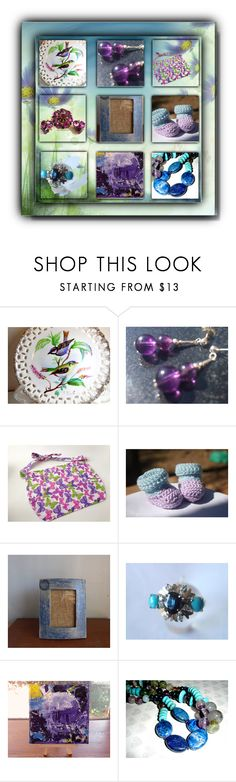 """Etsy Purple and Blue"" by sabine-713 ❤ liked on Polyvore featuring EASEL"