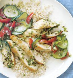 Friday Lunch: Black Bean-Almond Pesto Chicken