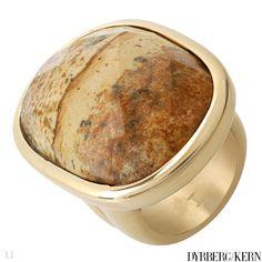 Dyrberg/Kern Jasper stone ring