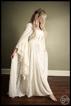 Gwendolyn Medieval Wedding Gown Velvet and Lace with Cape Custom