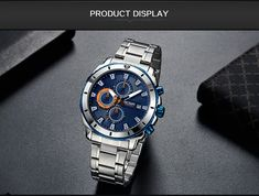 MEGIR Chronograph Quartz Men Watch Luxury Brand Stainless Steel Business Wrist Watches Men Clock Hour Time Relogio Masculino - Wrist Watches, Watches For Men, Men Watch, Luxury Branding, Chronograph, Quartz, Clock, Stainless Steel, Business