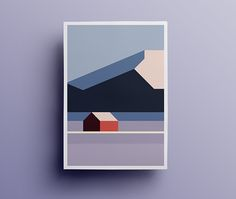 Sør-Helgeland series - - graphics and art - Geometric paint Art And Illustration, Illustration Design Graphique, Art Graphique, Mountain Illustration, Minimal Art, Minimal Poster, Art Minimaliste, Art Design, Geometric Art