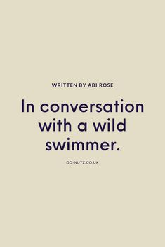 Few of us would consider inching into a local lake or river for a dose of endorphins. Fewer still would relish the idea when the wind is biting and the mornings are dark. But for 'wild swimmers' like Ella Foote, embracing the changing seasons is an important part of finding joy in the water.  #WildSwimming #SlowLiving #Mindfulness