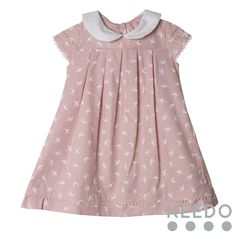 Sally dress - a contrasting Peter Pan collar gives this dress a cute look Winter Sky, Blush Color, Accent Colors, Peter Pan, Sally, Kids Outfits, Flower Girl Dresses, Wedding Dresses, Cute
