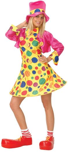 Image detail for -Female Clown Fancy Dress Costume