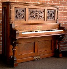 Mathushek Victorian Upright Piano   The Antique Piano Shop   old ...