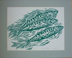 Image result for lino prints of fish