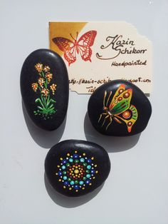Karin Schikorr - great idea to turn rock art into magnets :)