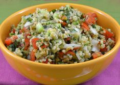 Kasha, also known as buckwheat groats, pairs with lentils in this lively Greek Kasha Salad that is perfect for picnics or easy weekday lunches. Cereal Recipes, Whole Food Recipes, Cooking Recipes, Greek Recipes, Whole Foods Market, Caramelized Onions And Mushrooms, Weigth Watchers, Vegetarian Recipes, Healthy Recipes
