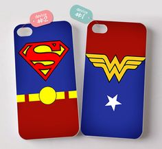 Superman and Wonderwoman Couples phone Case Matching by Mituebaza