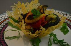 Parmesankurv med grønnsaker -