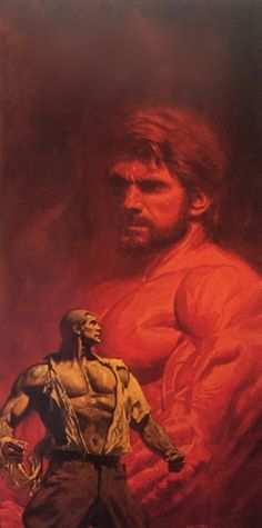 THE WHISKER OF HERCULES: Bob Larkin Doc Savage cover painting