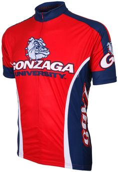Gonzaga University Bulldogs Cycling Jersey Free Shipping - see it at http://www.cyclegarb.com/cocyje.html