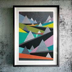 'freedom is a bike' fine art giclée print by muro buro | notonthehighstreet.com