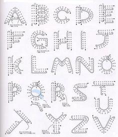 Tus patrones a crochet y más: Letras a crochet - crochet letters