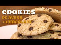 Las auténticas COOKIES de avena y chocolate americanas - YouTube Relleno, Youtube, Desserts, Food, Chocolate Cookies, Food Recipes, Cook, Food Cakes, Tailgate Desserts