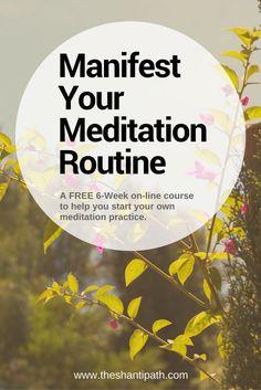 Manifest Your Meditation Routine Pinterest Graphic 2 #MeditationPractice