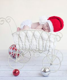 Look what I found on #zulily! Bits N Baubles BeBe Red & White Santa Stripe Stocking Cap Beanie by Bits N Baubles BeBe #zulilyfinds